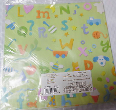 Hallmark Baby or Child Gift Wrapping Paper Lot of 3 pkgs. New