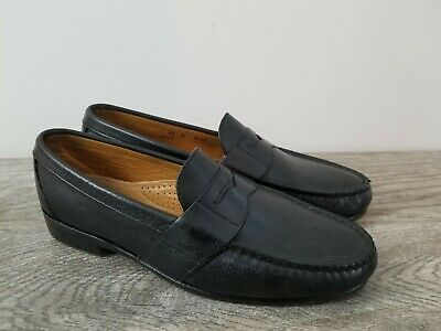 c745a52d4b5 ALDEN Mens Black Leather Full Strap Cape Cod Penny Loafers Sz 9.5 B Narrow  EUC