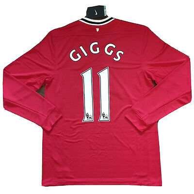 a4d766ca 2011/12 Manchester United Home Jersey #11 Giggs Medium Nike Long Sleeve NEW