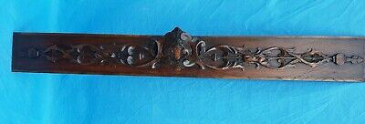 Antique French: Pediments, Solid Oak, wood carved , 19th, Architectural