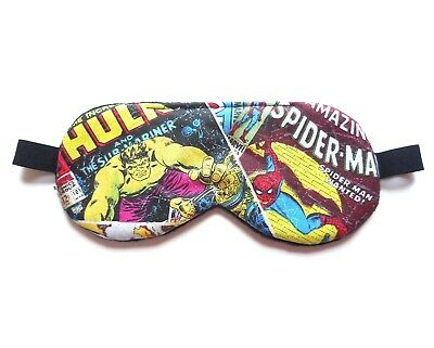 Sleep Mask Superhero Blindfold Eye Shade 6 7 8 Marvel Comics Boy Hulk Spiderman