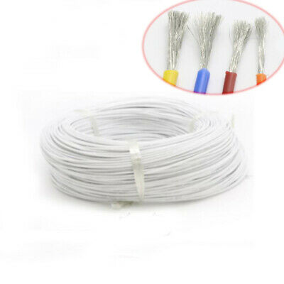 8 ~ 30AWG Silicone Cable Flexible Wire UL-US 0.08mm Series RC Cable Lead White