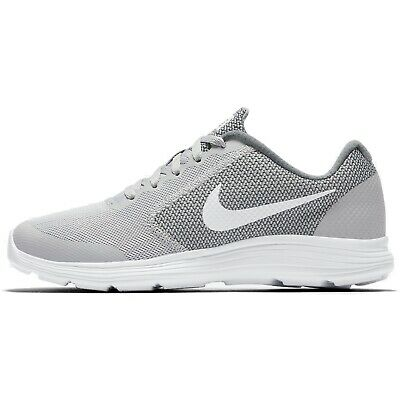 80e546375980 Nike Revolution 3 (GS) 819413-008 Wolf Grey White Youth Boy s Running Shoes
