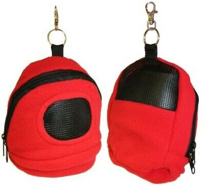 Rodent or Sugar Glider Kucci Carry Bonding Bag Pouch with Window Red New