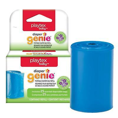 Playtex Diaper Genie On The Go Dispenser Refills, 25 Scented Disposable Bags