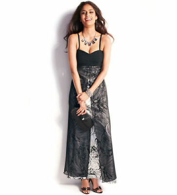 3134dfcc Kaleidoscope Black And Ivory Maxi Dress Size 10 New With Tag Rrp £110.00