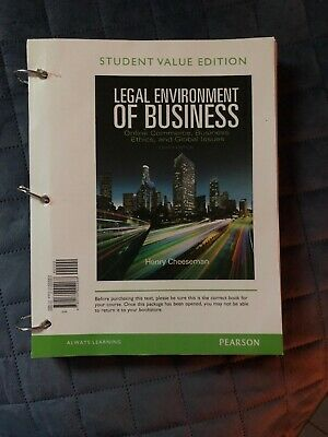 Legal Environment of Business : Online Commerce, Ethics, and Global Issues...,