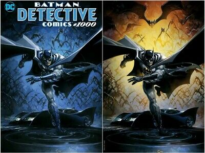 Detective Comics 1000 Crain Virgin Trade Variant Set Batman In Stock Nrmt