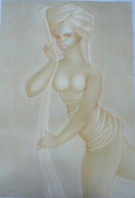 Leonor Fini - Woman Unveiling Herself - Big Lithography - Scarce Edition