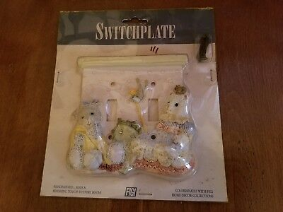 Vintage 1997 FIGI Friends Forever Double Switchplate Switch Plate NIP Lamb Cat