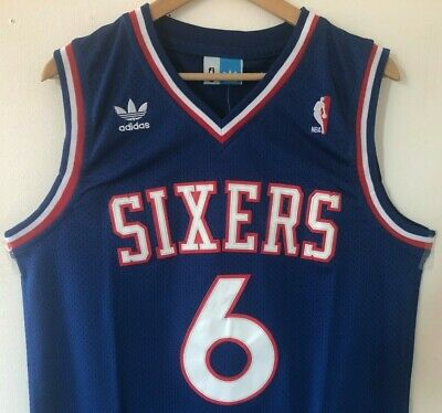 6946fee2bfd Julius Erving Philadelphia 76ers Adidas Swingman Throwback Stitched Jersey  NWT