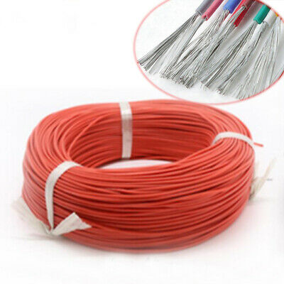 Silicone Cable Flexible Wire 10 -26 28 30AWG Copper Tinned HIGH TEMP UL3135 Red