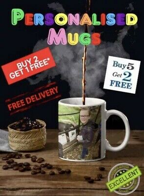 Personalised Mug Photo Wording Name + Free Gift Box Design Your Own Stylish Cup