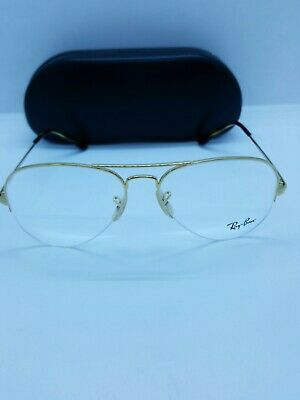 38d6590cda2ed New Ray-Ban Rb 6589 2500 Gold Authentic Eyeglasses Frame Rb6589 W Case 59