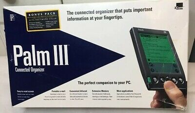 + 3 Com Palm III PDA (Personal Data Assistant) New