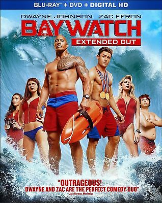 Baywatch: Blu-Ray + DVD [Extended Cut Edition] New W/ Cover, Includes Digital HD