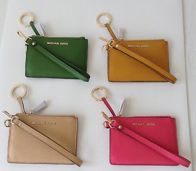 badae3a83c95 NWT MICHAEL KORS Money Pieces SM Key Card ID Coin Purse/Wristlet Assorted  Colors