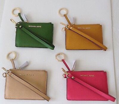 728ada21e144 NWT MICHAEL KORS Money Pieces SM Key Card ID Coin Purse/Wristlet Assorted  Colors