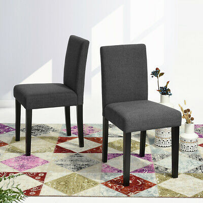 Set of 2 Dining Chairs Modern Contemporary Fabric Parson Chair for Living Room
