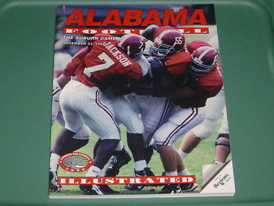 1996 Auburn Tigers vs Alabama Crimson Tide Iron Bowl Football Program