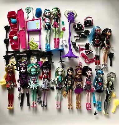 Monster High Doll Lot - Frights Camer Action / Freaky Fusion And More!