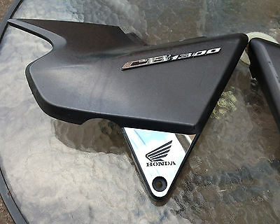 2005 on HONDA CB 1300 PAIR OF LOGO MIRROR POLISHED STAINLESS SIDE PANEL COVERS
