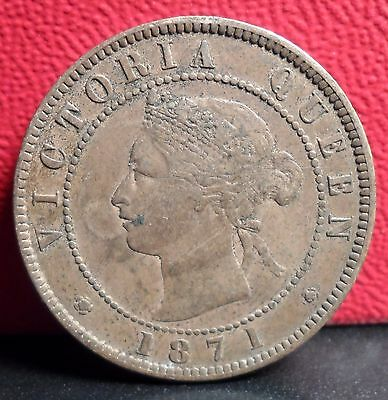 Very Nice Single Year Type 1871 Prince Edward Island One Cent Coin KM #4