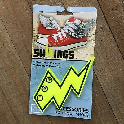 """Shwings /""""NEON ORANGE WINGS/"""" Shoe Wings Makes Old Shoes New Makes New Shoes Fly!"""