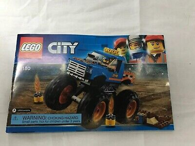 Lego City Instruction Book Manual 60180 Monster Truck