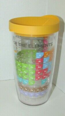 9b6f4752364 Tervis Tumbler The Periodic Table of Elements 16 oz yellow lid insulated cup