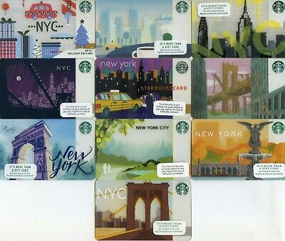 Complete Set 10 Different Regional New York Nyc Taxi Central Park Starbucks