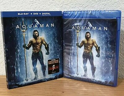 AQUAMAN ~ DC (Blu-Ray + DVD + Digital, 2019) with SLIPCOVER ~ NEW & SEALED!