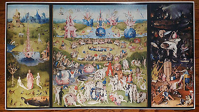 """Garden of Earthly Delights GIANT WIDE 24"""" x 46"""" Hhieronymus Bosch Poster Art"""
