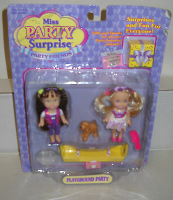 #7843 RARE NRFC Toy Biz Miss Party Surprise Party Friends Playground Party Dolls