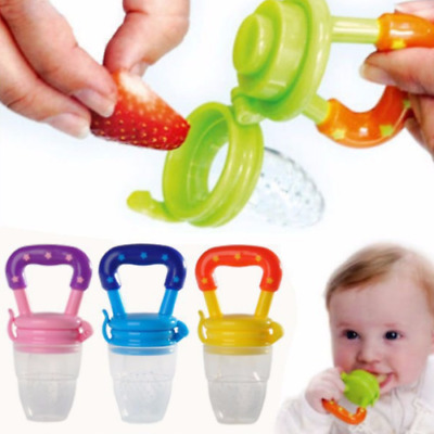 Baby Food Fruit Milk Safe NON-TOXIC Silicone Feeding Pacifier Nipple Teeth