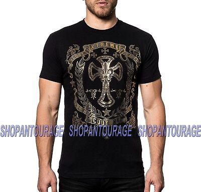 Xtreme Couture Gilded Cross X1754 Short Sleeve MMA Graphic T-shirt By Affliction