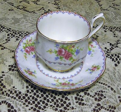 Vintage Royal Albert Petit Point England Cup and Saucer Bone China