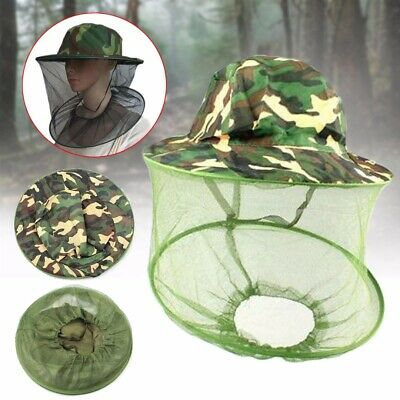 1x Beekeeping Cowboy Hat Mosquito Bee Insect Net Veil Cap Face Head Protector US