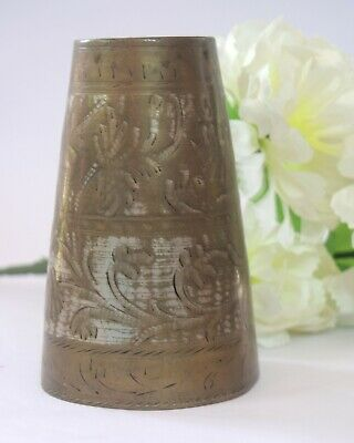 Vintage Indian Brass Lassi Cup / Glass Handcrafted Design Kitchenware.G66-213 US