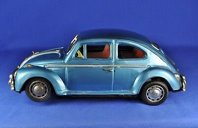 Bandai VW Käfer / Beetle, Batterie / battery, blau / blue metallic, ca. 1968