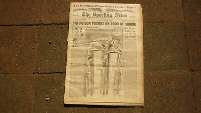 St LOUIS SPORTING NEWS BASEBALL NEWSPAPER, FEB 7 1951 JAMES FOXX & MELVIN OTT