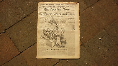 St LOUIS SPORTING NEWS BASEBALL NEWSPAPER, AUG 22 1951 DETROIT TIGERS