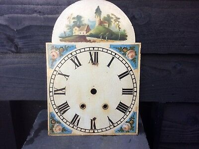 Antique Longcase Clock Dial.