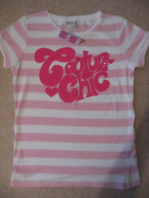 New Girls Clothes Kylie Double Layer Pink T Shirt / Top Age 11 - 12 Years New