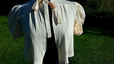 1940s Lingerie Jacket Dainty Peach Fine  Cotton Ideal for cool Evenings