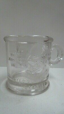 Vintage Countrys Martyrs Cup Pressed Glass Garfield Died 1881 Lincoln 1809