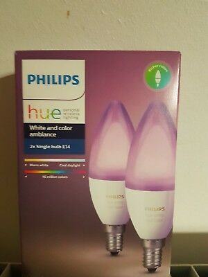 AMPOULE CONNECTABLE PHILIPS PACK X2 E14 HUE WHITE & COLORS Neuve 8718696695241