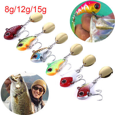 8g 12g 15g Metal Mini VIB w/ Spoon Fishing Lure Fishing Tackle Pin Crankbait