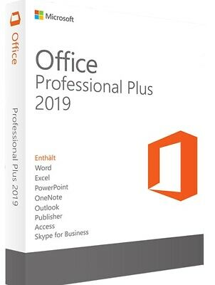 Microsoft Office 2019 Professional Plus For Windows Product Key License Code 1PC