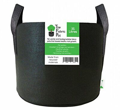 Fabric Pots Round & Square Black Recycled Materials Hydroponics Plant Pots Grow